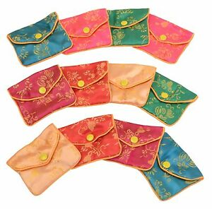 Silk Jewelry Chinese Pouch Bag Roll One Case 144dz Colors 3 X 2 1 2