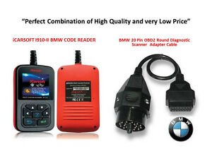 Bmw Mini Professional Diagnostic Scanner Tool Obd Icarsoft I910 ii 20 Pin Cable