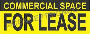 4 x10 Commercial Space For Lease Banner Outdoor Sign Xl Real Estate Property