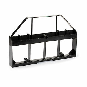 Titan Attachments 46 in Skid Steer Pallet Fork Frame Attachment Rate 4 000 Lb