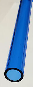 Clear Blue Acrylic Plexiglass Lucite Tube 1 Od X 3 4 Id Diameter 24 Long