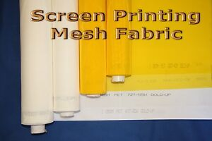 10 Yards 305 Yellow X 63 Width Silk Screen Printing Mesh Fabric