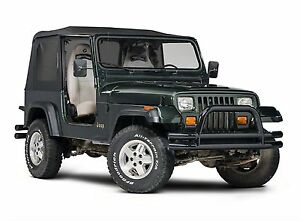 1988 1995 Jeep Wrangler Replacement Roof Tinted Windows Half Door Soft Top