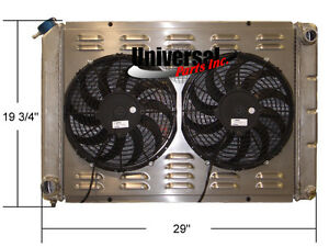 205058 Northern 1980 1993 Ford Mustang 5 0 Aluminum Radiator W Spal Fans