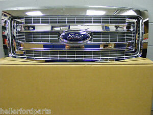 2009 2010 2011 2012 2013 2014 Ford F150 Chrome Solid Bar Ford Oem Grille
