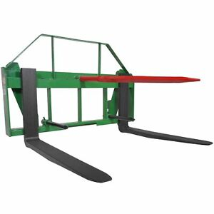 Titan 42 Pallet Fork Hay Bale Spear Attachment Fits John Deere Global Loaders