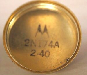 2n174a Power Transistor Motorola Pnp Nos Germanium