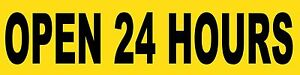 Open 24 Hours Sign Banner Auto Repair Ad 2 x8 Automotive Service Tire Store