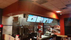 3 Screens Digital Menu Boards Package For Fast Food Restaurants