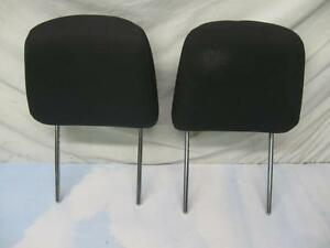 Ford Mustang Front Seat Head Rest Set L r black Fabric 2005 2009 Oem
