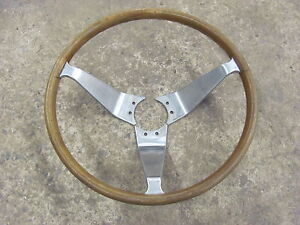 Vintage 3 Spoke Woodgrain Steering Wheel 13 Opel Simulated Wood