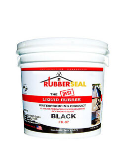 Rubberseal Liquid Rubber Waterproofing Roll On Black 1 Gallon New