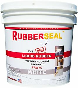 Rubberseal Liquid Rubber Waterproofing Roll On White 1 Gallon New