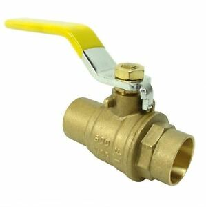 2 Brass Ball Valve Sweat Full Port 600wog lead Free