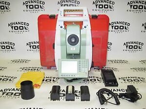 Leica Tcrp 1205 R100 Prismless Dual Display Robotic Total Station Radio Tcrp1205