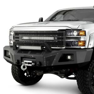 For Chevy Silverado 2500 15 18 Bumper Br10 Replacement Full Width Black Front