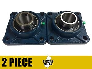 2 Pieces 2 4 Bolt Flange Bearing Ucf211 32 Ucf211