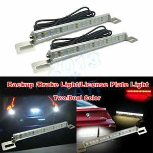2pcs White red 30 smd Led Lamps For License Plate Light backup Brake Light 12v