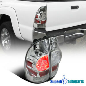 Fit 2005 2015 Toyota Tacoma X runner Chrome Clear Led Tail Brake Lights Lamps