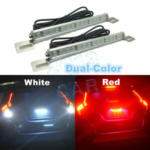 2x Universal White 30 smd Led Lamps For Car Truck Suv License Plate backup Light