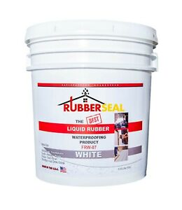Rubberseal Liquid Rubber Waterproofing Roll On White 5 Gallon New