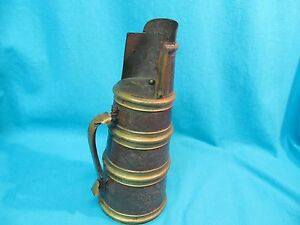13 Antique Chinese Brass Bronze Pitcher Floral Engraved Marked China