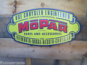New Dodge Mopar Chrysler Plymouth Metal Display Brite Look Parts Accessories 70