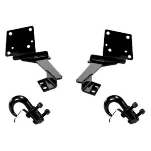 For Jeep Grand Cherokee 1993 1998 Rugged Ridge Black Front Tow Hooks