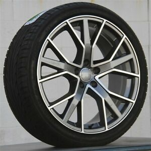 Set 4 19x8 5 5x112 Wheels Tires Pkg Vw Rabbit Jetta Beetle Golf Eos Cc Passat