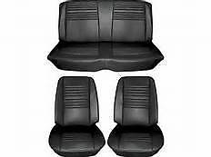 1967 67 Chevelle New Set Of Black Bucket Seat And Rear Coupe Covers Pui Quality