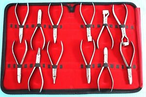 New Premium Grade Set Of 12 Each Optician Optical Pliers eyeglasses Tool Set