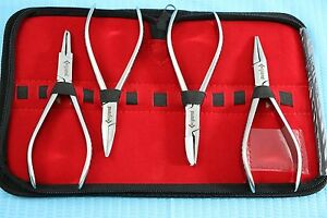 New O r Grade Set Of 4 Each Optician Optical Pliers eyeglasses Tool Set