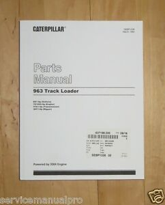 Sebp1338 Caterpillar Cat 963 Track Loader Parts Book Manual