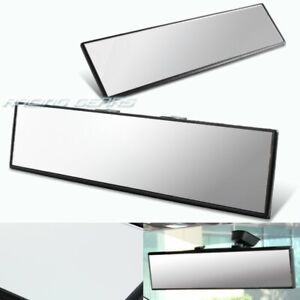 300mm Wide Flat Interior Clear Clip On Panoramic Rear View Mirror Universal 1