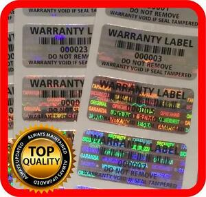 Warranty Protection Seal Void Hologram Stickers Tamper Evident Labels 32x15mm
