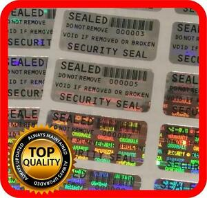 Security Seal Void Hologram Stickers Warranty Tamper Evident Labels 32x15mm