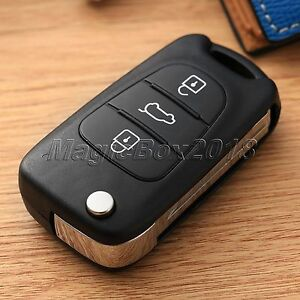 3 Buttons Car Folding Remote Key Shell Case Cover Flip Fob For Hyundai I20 I30