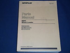Cat Caterpillar 980c Wheel Loader Parts Book Manual S n 63x6575 up