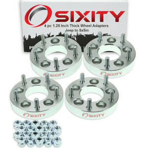 4pc 5x4 5 To 5x5 Wheel Spacers Adapters 1 25 For Jeep Compass Liberty Jg