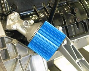 Bmw M20 Oil Filter Cooler Heat Sink Cover Blue