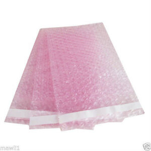 250 New 6 x 8 5 Anti static Pink Bubble Out Bags