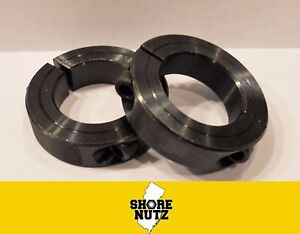 2 2 Double Split Steel New Clamping Shaft Collar Black Oxide Sc200d