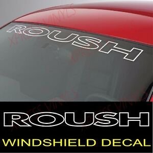 Ford Mustang Roush Windshield Vinyl Decal Sticker Custom Vehicle Logo White