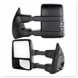 For 08 16 Ford F250 f550 Super Duty Towing Mirrors Power Heated Turn Signals