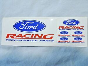 Ford Racing Mini Decal Set 6 In All Models Dash Toys Good Deal Kqql Mustang