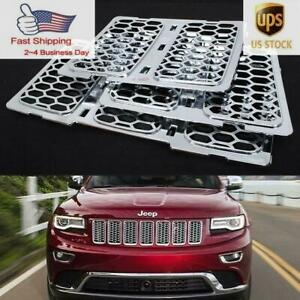Abs Chrome Front Mesh Grill Insert Cover For Jeep Grand Cherokee 2014 2015 2016