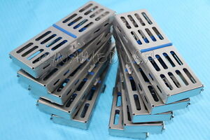 10 German Dental Autoclave Sterilization Cassette Rack Box Tray For 5 Instrument