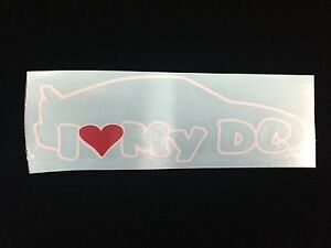 I Love My Dc Sticker Decal Window Bumper Acura Integra Gs Gsr Ls Jdm Heart