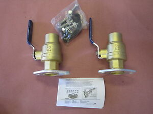 One Pair Grundfos 96806137 Pump 1 1 4 Soldered Dielectric Ball Valves