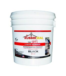 Rubberseal Liquid Rubber Waterproofing Roll On Black 2 Gallon New